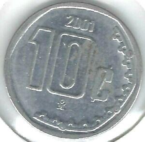 2001 Mexico Uncirculated Ten Centavo Coin