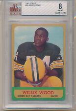 1963 Topps Football Willie Wood (Rookie Card) (HOF) (#95) BVG8 BVG