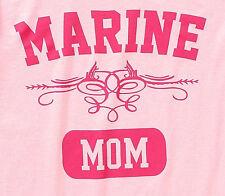 New MARINE MOM Sz L Pink Short Sleeve Tee Shirt Women's T-Shirt Military Mom