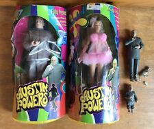 Austin Powers Action Figure Lot Doll Dr Evil Fembot  Talking