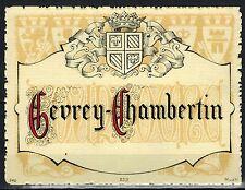 Etiquette Vin  de Bourgogne - Gevrey-Chambertin - Chromo - Blason - Réf.n°221