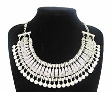 Fashion Charm Pendant Chain Crystal Jewelry Choker Chunky Statement Bib Necklace Style 9