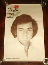 Rare NEIL DIAMOND You Don't Bring Me Flowers 1978 COLUMBIA RECORDS PROMO POSTER