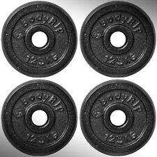 "Cast Iron Weight Plates 4 x 1.25kg fit 1"" Standard Bars"