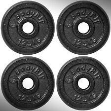 hierro fundido Placas Para Pesas 4x 1.25kg Ajustada 2.5cm barras Estándar