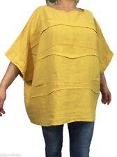 Locker sitzende Damenblusen, - tops & -shirts mit Fledermausärmeln ohne Kragen