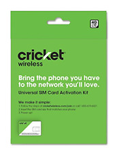 Cricket Wireless SIM Card Universal Activation Kit 4g LTE