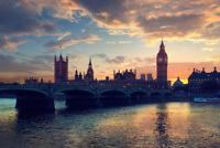 London Skyline with Big Ben Westminster Bridge Photo Art Print Poster 18x12 inch