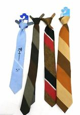 Vintage Boys Neckties Penneys Towncraft Striped Clip-On  4
