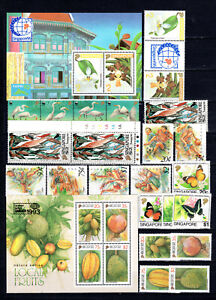 SINGAPORE 1993 COMPLETE SETS OF MNH STAMPS UNMOUNTED MINT