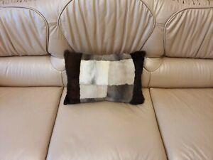 Real mink fur pillow, marten fur pillow, real fur pillow, fur pillow, accent pil