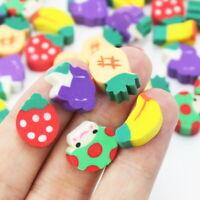 50pcs Mini Fruit Shaped Rubber Pencil Eraser Kids Study Stationery Novelty Gift