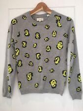 Chinti & Parker Grey Cashmere Cheetah Print Sweater Jumper  XS New NWOT