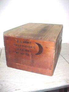 WW2 U.S. Army Field Ration C, Wooden Box