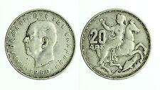 pcc1721_4) GRECIA. 20 Dracme 1960 AG