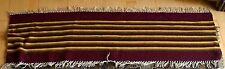 Petit tapis kilim long  134/38 cm rayé  bordeaux jaune vert brun