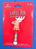Hallmark PIN Christmas Vintage REINDEER POGO Pony STICK Toy Holiday Brooch NEW