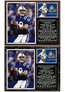 Peyton Manning Hall of Fame Photo Plaque