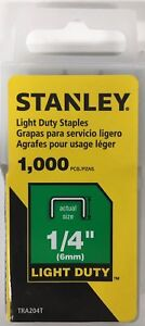 "Stanley TRA204T 1/4"" 6mm Light Duty Staple, Pack of 1000"