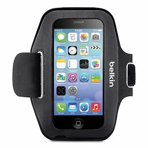 Belkin Sport-Fit Armband Brassard for iPhone 5 / 5S / 5c / SE (Black / Overcast)