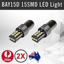 2 x Car Led Brake Tail Light BAY15D 15SMD 2835 LED 1157 P21/5W Bulbs 12V