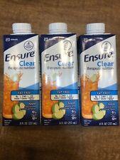 Ensure Clear Therapeutic Nutrition Apple Flavor 3 8 Oz Bottles Abbott Exp 10/20