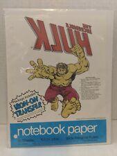 NOTEBOOK PAPER  1975 Incredible Hulk IRON-ON shirt TRANSFER!! HTF marvel