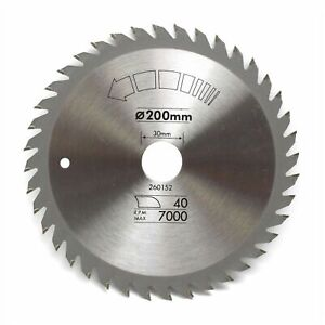 200mm x 30mm 40T TCT Circular Saw Blade Fine Cutting for Hard & Soft Wood
