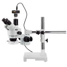 Amscope 35x 180x Trinocular Stereo Zoom Microscope3mp Camerafluorescent Light