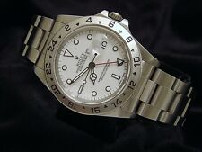 Rolex Stainless Steel Oyster Perpetual Explorer II Date Watch 40mm White 16570