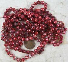 Vintage Mercury Glass Bead Garland Red 6 Foot 1/4�