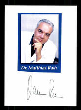 Dr Matthias Rath Original Signiert Arzt # BC 113614