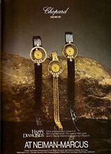 1982 Chopard Neiman Marcus Watch Diamond Print Advertisement Ad Vintage VTG 80s