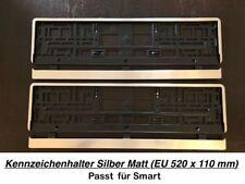 2x Top Kennzeichenhalter Silber Matt Chrom Optik Gebürstet Made in EU (68