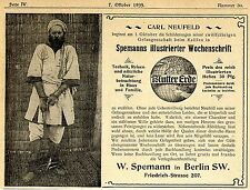 Carl Neufeld-Schilderung in Spemanns Wochenzeitschr.Historische Reklame von 1899