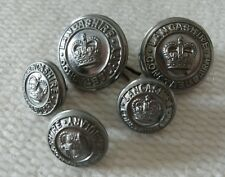 Vintage shank back metal button Lancashire Constabulary x 5 police uniform