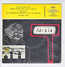 "MOUSSORGSKY ROSSINI Vinyle 45T 7"" SP BORIS GODOUNOV -BARBIER SEVILLE -DEUTSCHE G"