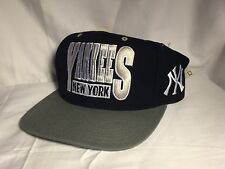 VINTAGE 80S NEW YORK YANKEES original SNAPBACK Hat Cap Genuine Boxseat NWT
