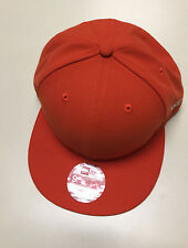 New Era 'BLANK SNAPBACK' Orange Adjustable Hat