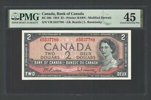 Canada 2 Dollars 1954 BC-38b  Extremely Fine