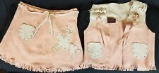 John R Craighead Authentic Western Outfits For Jr. Cowboy/Cowgirl Vest & Skirt