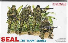 1/35 Dragon 3302 - Vietnam Series - US Nave Seals  4 Figure plastic Model Kit