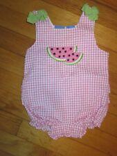 baby Crew Ruffle Butt Watermelon Bubble/Romper Size 3-6 Months