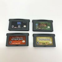 Lot of 4 Nintendo Game Boy Advance GBA Games Ultimate Spider Man Pirates Kong