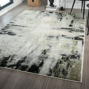 Abstract Green Decorative Rugs Top Quality Floor Carpet Contemporary Area Rug