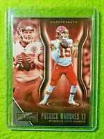 PATRICK MAHOMES CARD JERSEY #15 KANSAS CITY CHIEFS 2018 Panini Playbook Football
