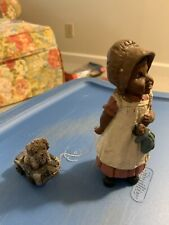 """All God's Children """"Bonnie� by Martha Holcombe collectible Figurine with puppy"""