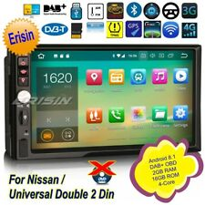 """2 Din Autoradio Nissan Android 8.1 Double DAB+ Navigatore DTV Bluetooth 7""""3841IT"""
