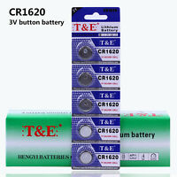 5pcs CR1620 3V Coin Button Cell Battery DL1620 BR1620 For Watch ONE PACK