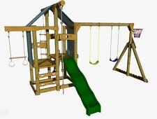 Peppertown Skyfort Swingmaster DIY Playground Cubby House Swings Trapeze Slide
